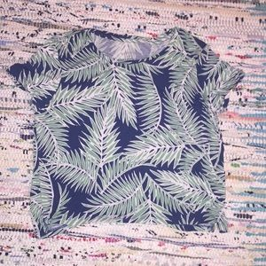 Aeropostale Palm Tree Print Crop Top XS